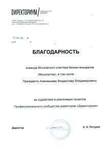2015-03-03 Благодарность Москластер Директориум